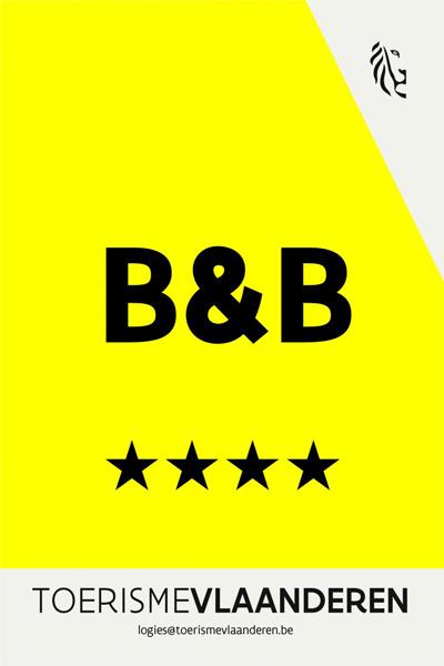 Erkenning Toerisme Vlaanderen B&B 4 sterren